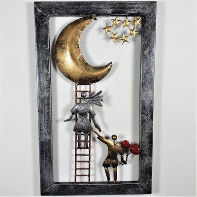 Wanddeco trap naar de maan, 1 trap Vanaf februari 2020