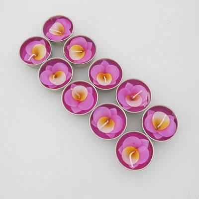 Waxinelichtjes Orchidee, set van 10 Pink