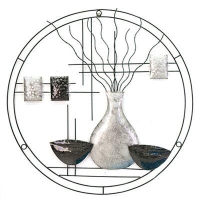 Wanddeco vazen metaal Cirkel, Large