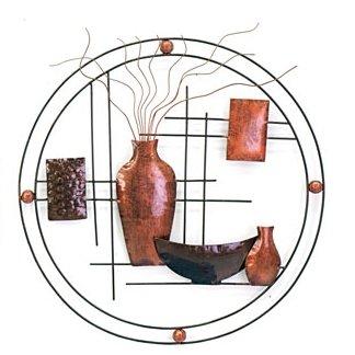 Wanddeco vazen metaal Cirkel, Small