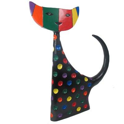 Houten Kat Lobang 37x4x45 cm, multicolour