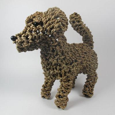 Hond pup, touw