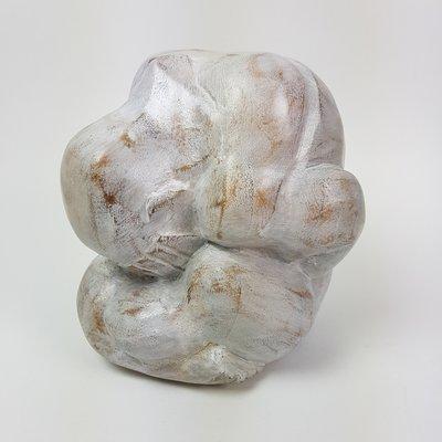 Houten Yogi, diameter 15 cm, White wash
