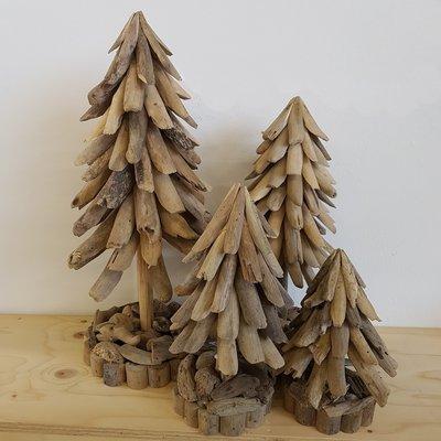 Kerstboom, drijfhout 30 cm