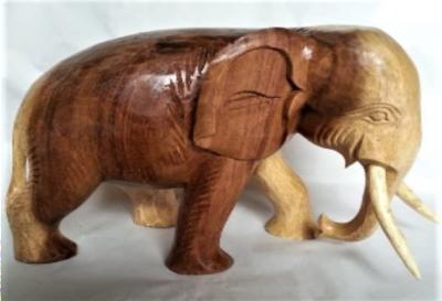 Houten olifant slurf laag