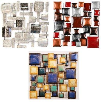 Wanddeco Blokken Modern vierkant
