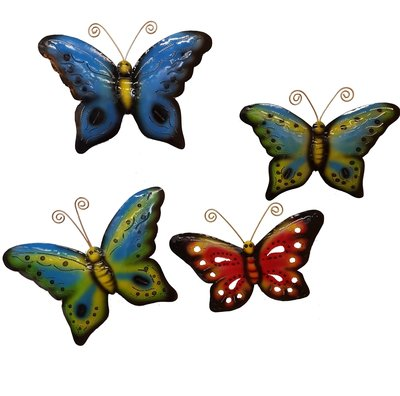 Wanddeco Vlinder metaal