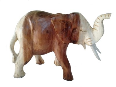 Houten olifant slurf hoog